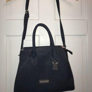 Catherine malandrino navy blue satchel !
